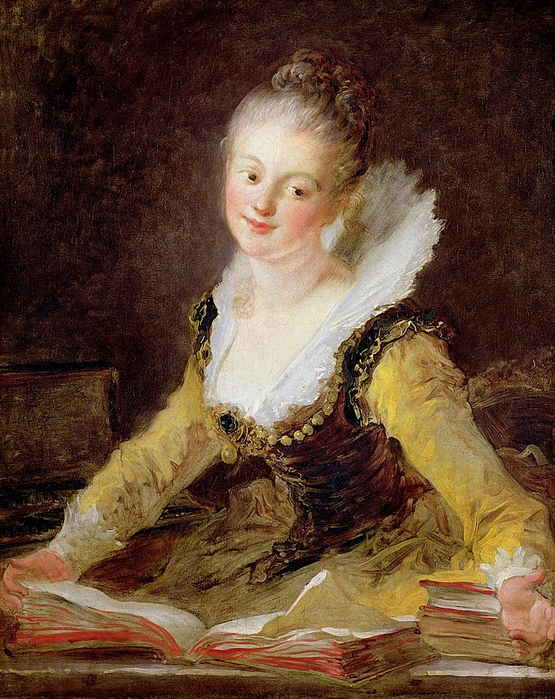 The Study or The Song. Jean-Honore Fragonard (French, 1732-1806). (555x700, 372Kb)