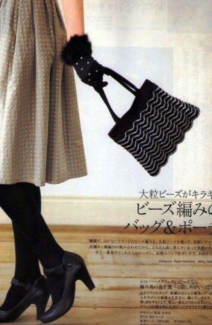 сумки крючком по японским схемам