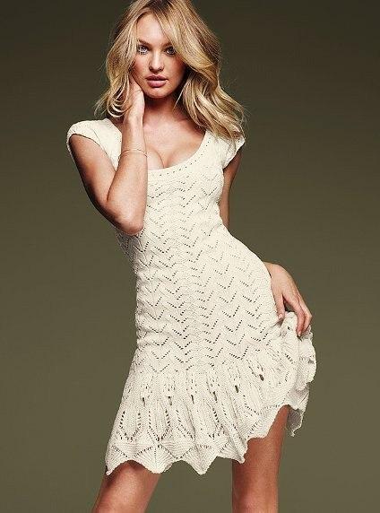 5de868210a249 Вязаные платья Виктория Сикрет (см. на фото модные вязаные платья)  демонстрируют все последние тренды, а именно крупную объемную вязку, вязку  «лапша», ...