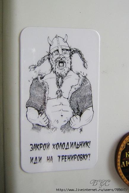 Картинка на холодильник чтоб не есть