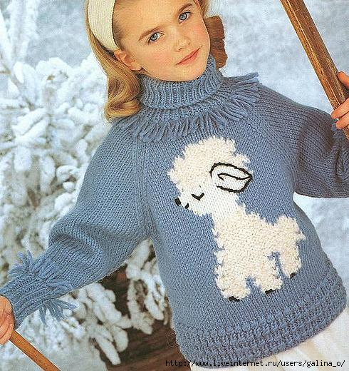 Схема вязки детского свитера
