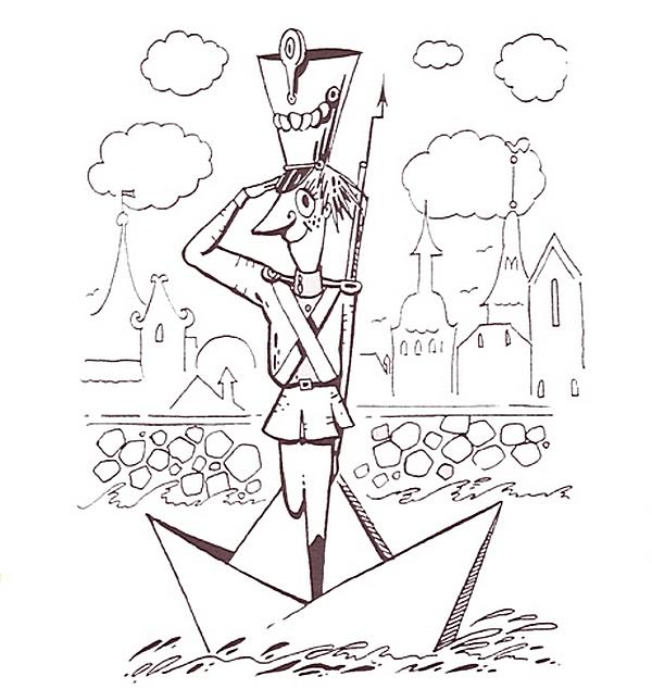 картинки оловянного солдатика карандашом затем, путешествуя разным