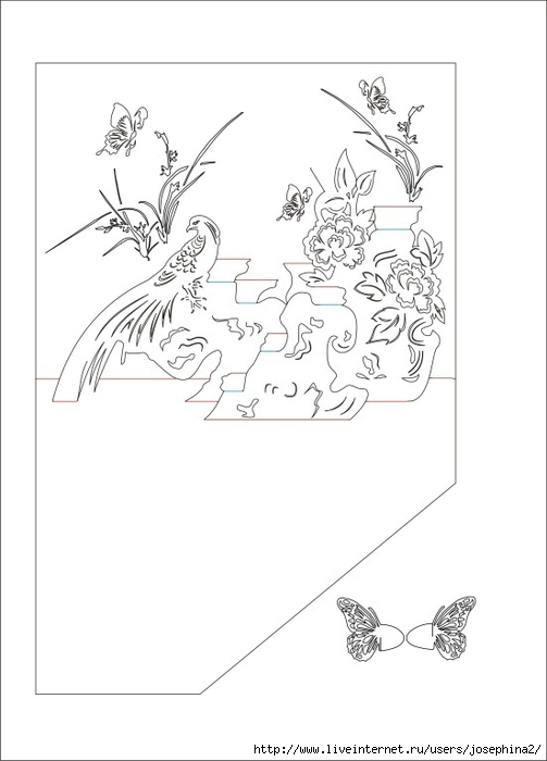 The Art of Kirigami BIRD AND BUTTERFLY (503x700, 111Kb)
