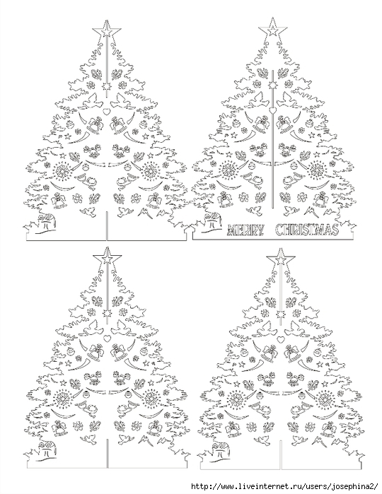The Art of Kirigami CHRISTMAS TREE (540x700, 223Kb)