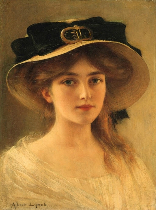 Albert Lynch. Portrait of a Young Girl (520x700, 238Kb)