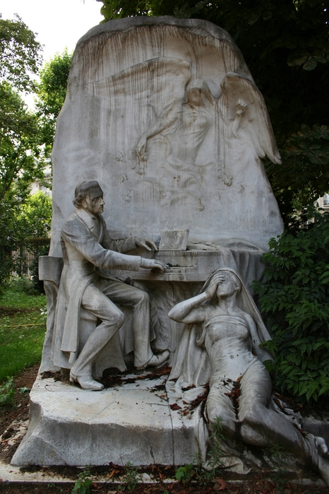 Frederic Chopin, 1906 - Parc Monceau, Париж, Франция - Jacques Froment-Meurice (1864-1947) (466x700, 280Kb)
