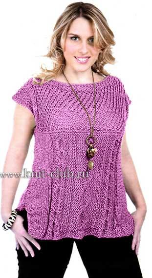 Схемы вязания летних кофточек для полных женщин 260