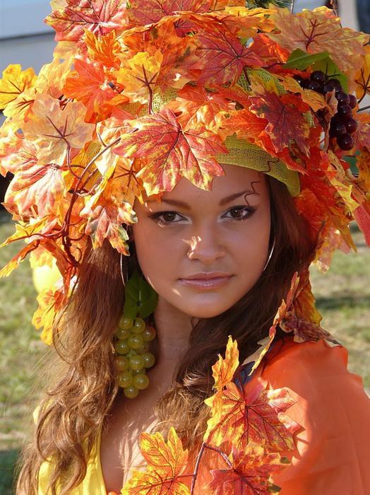 картинки девочка и осень