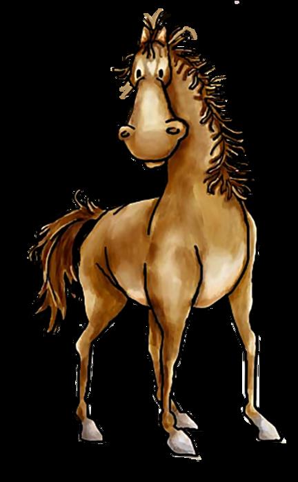 Рисунок смешных лошадок