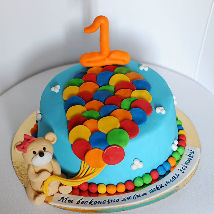 Украшение детского торта на годик фото