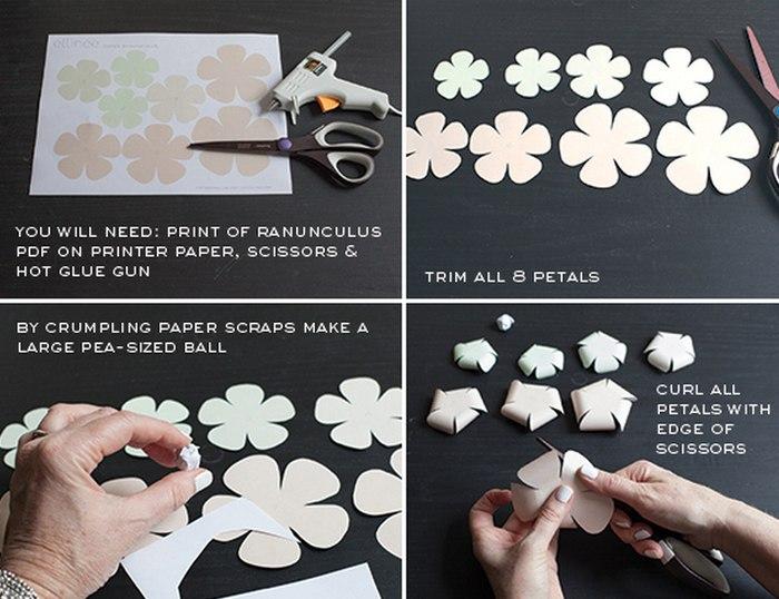 Цветы в скрапе своими руками
