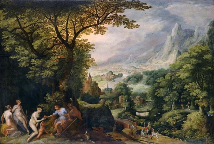 Пейзаж с судом Париса (Landscape with the Judgement of Paris) Токио, Национальный музей западного искусства