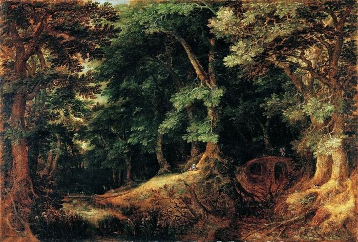1598 Лесной пейзаж (Forest Landscape) Вена, Музей Лихтенштейн