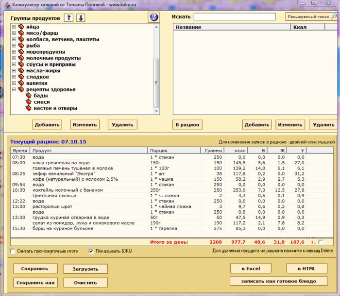 Онлайн калькулятор калорийности для похудения калькулятор