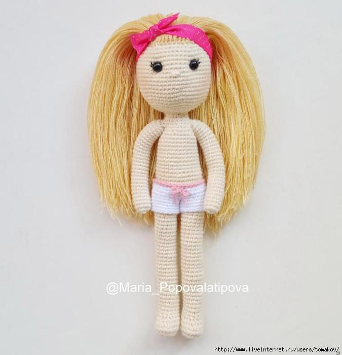 делаем волосы вязаной кукле обсуждение на Liveinternet российский