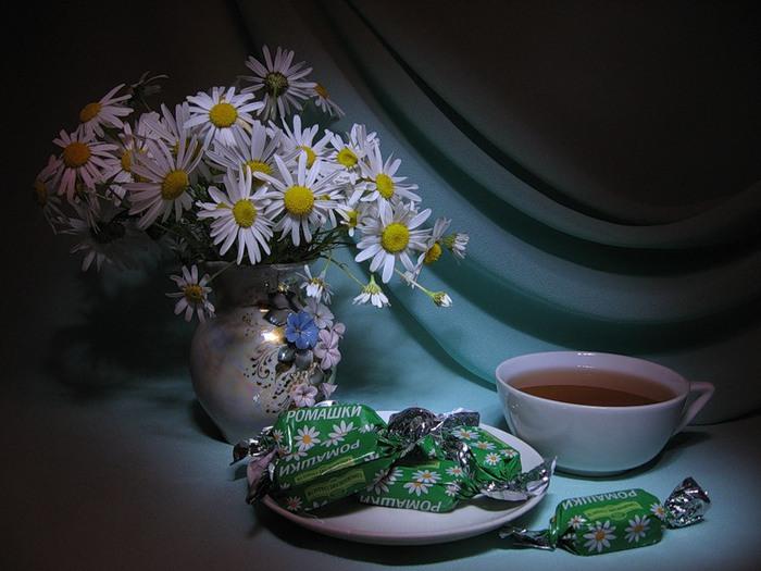 Новый год, картинки с ромашками с добрым утром и добрый вечер