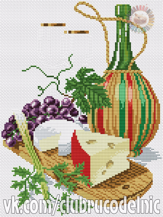 Cheese & Red Wine (526x700, 594Kb)