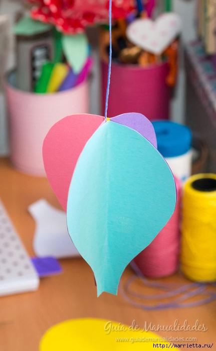 Для детской комнаты. Мобиль с воздушными шарами своими руками (4) (431x700, 176Kb)