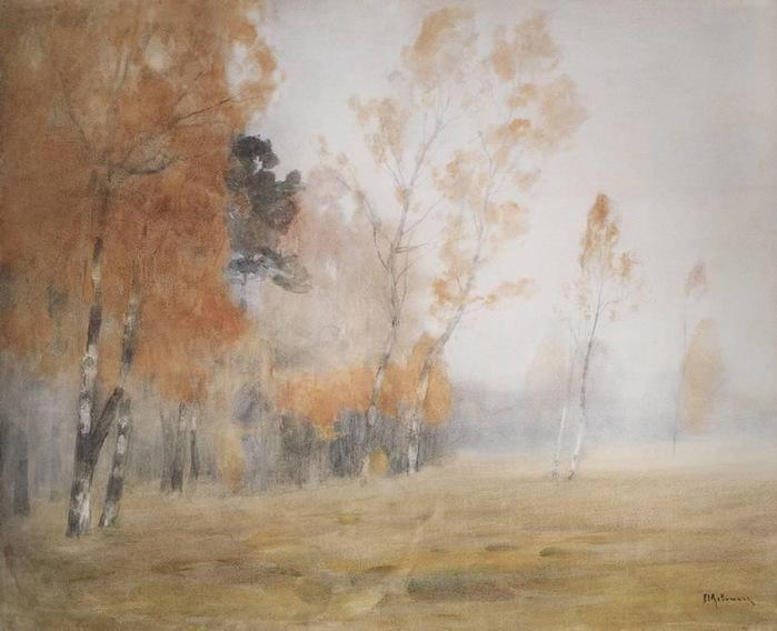Левитан_Туман._Осень (700x568, 102Kb)
