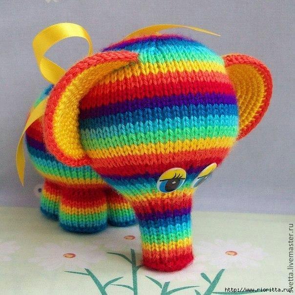 Схема слоненка спицами