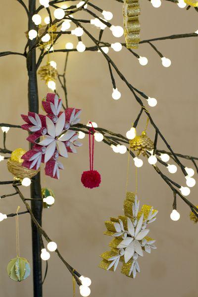 Рождественские звезды из декоративной металлизированной бумаги (5) (400x600, 173Kb)