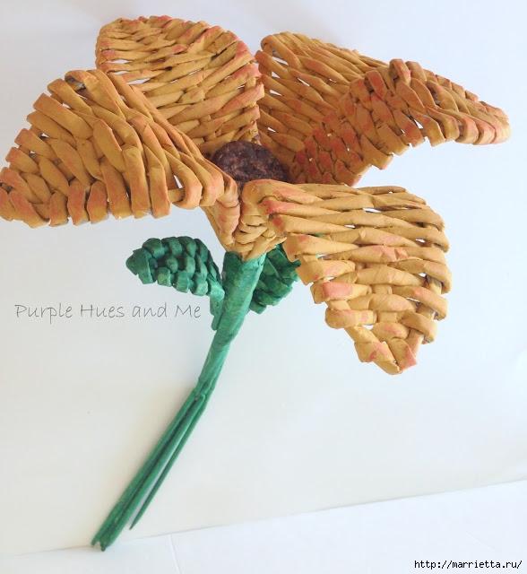 Плетение. Цветы из газетных трубочек (16) (588x640, 191Kb)
