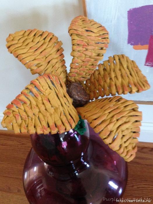 Плетение. Цветы из газетных трубочек (17) (525x700, 289Kb)