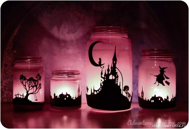 К Хэллоуину. Сказочные ночники из баночек своими руками (6) (650x443, 164Kb)