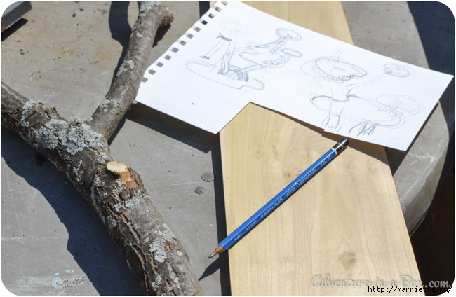 Из природных материалов. Декоративный домик для феи (17) (650x424, 167Kb)