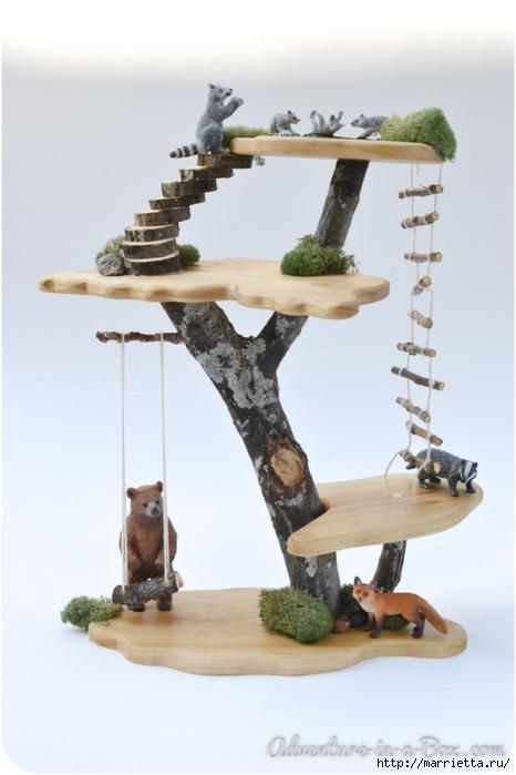 Из природных материалов. Декоративный домик для феи (21) (466x700, 161Kb)