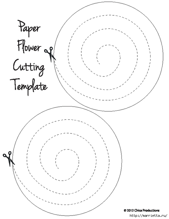 Декоративная бумажная тыковка в спиральных розочках (2) (540x700, 104Kb)