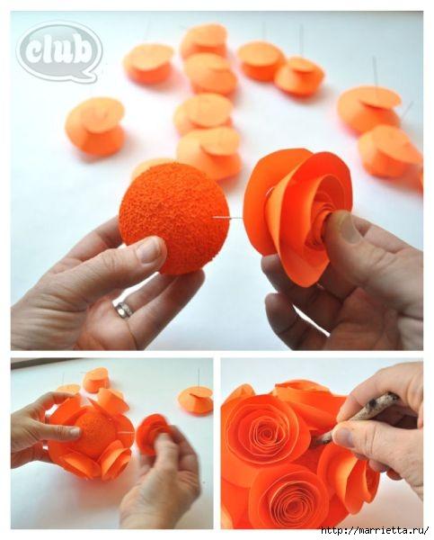 Декоративная бумажная тыковка в спиральных розочках (6) (483x600, 130Kb)