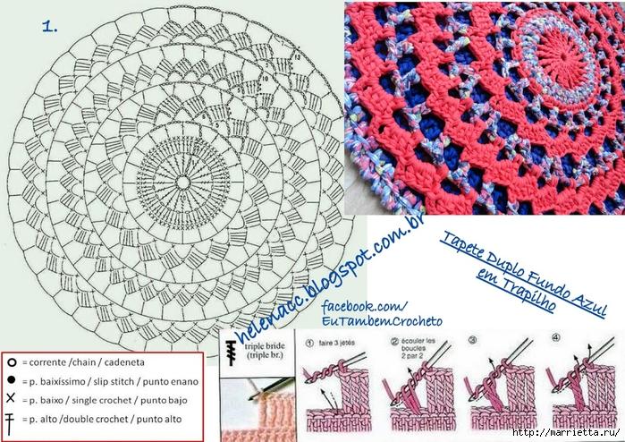 Двойной круглый коврик из пряжи спагетти (5) (700x494, 363Kb)