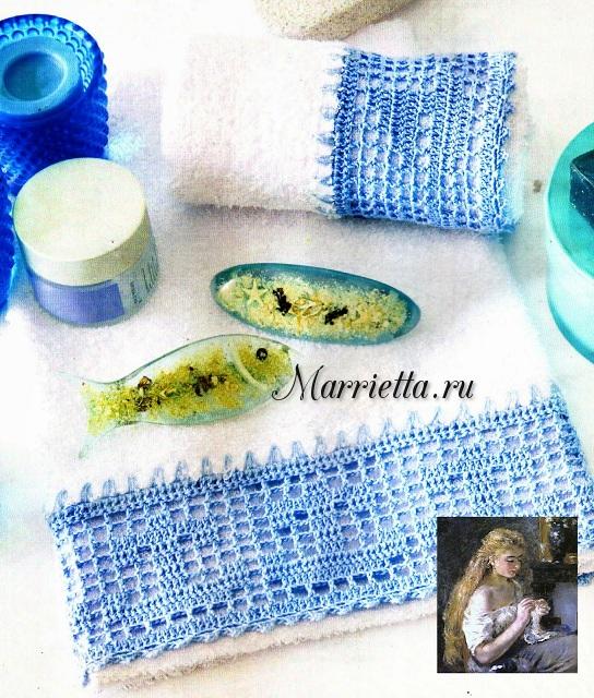 Филейное вязание. Украшаем махровое полотенце (1) (544x640, 509Kb)