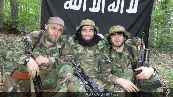 ИГИЛ показал фото своих боевиков на российском Кавказе ... Джихад на Кавказе