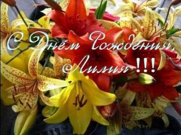 С днем рождения лилия ивановна лучшие поздравления