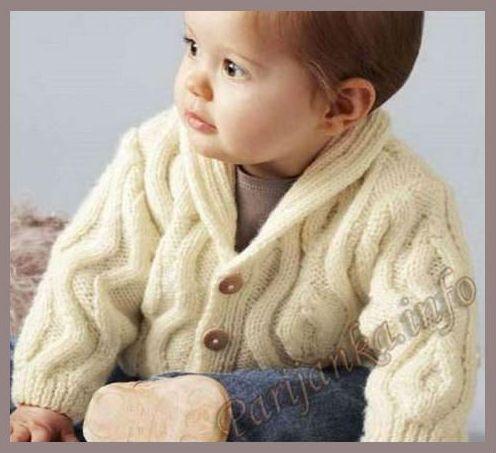 Схема свитера для мальчика спицами