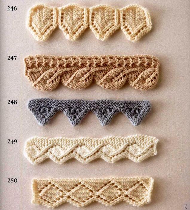 Оригинальные способы обвязки Вязание кружев спицами по краю изделия