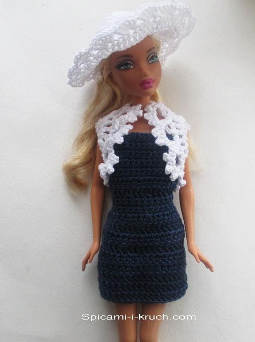 схемы вязаной одежда для куклы
