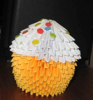 Модульное оригами amp;amp; Пасхальный кулич amp;amp;