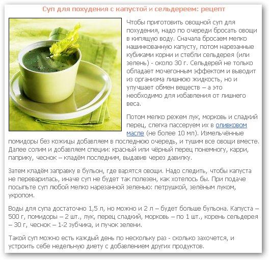 Сельдереевая диета 7 дней отзывы