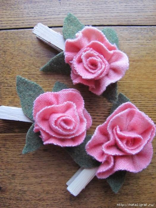 Цветы из трикотажа фото
