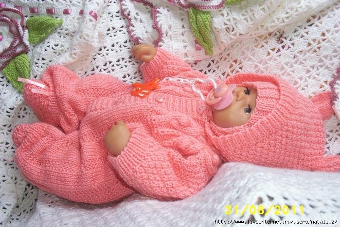 вязаные костюмчики для малышей схемы