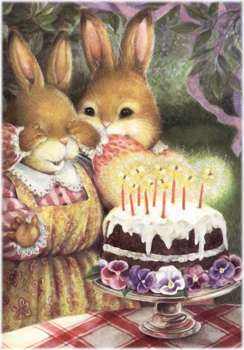 Год зайчика, открытки с днем рождения с кроликом