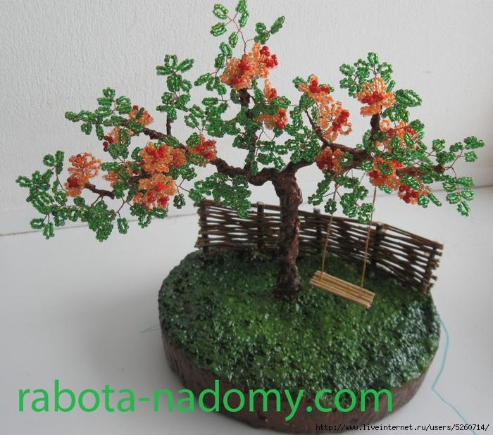 Фото поделок из бисера цветы и деревья 38