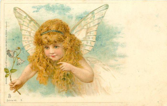 Класс открытки, ретро открытки с ангелочками