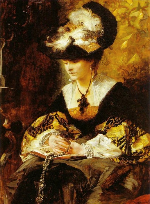 Hans Makart, Portrait of Countess Palffy, 1880 (516x700, 157Kb)