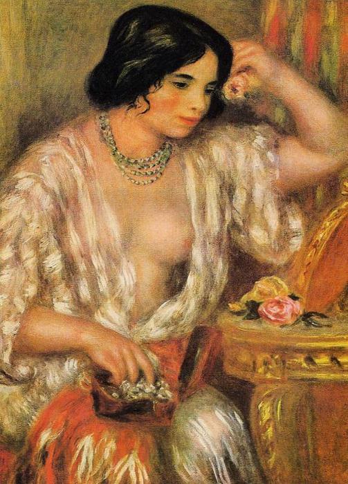 Gabrielle Wearing Jewelry - 1910 (503x700, 79Kb)