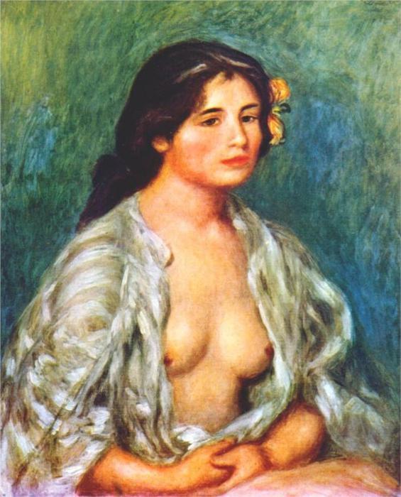 Габриэль с открытой блузкой, 1907 (565x700, 63Kb)