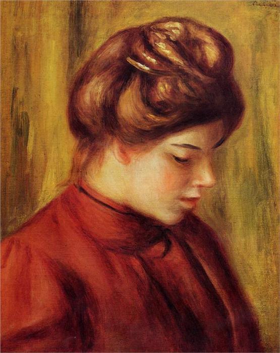 Профиль женщины в красную блузку, 1897 (555x700, 60Kb)